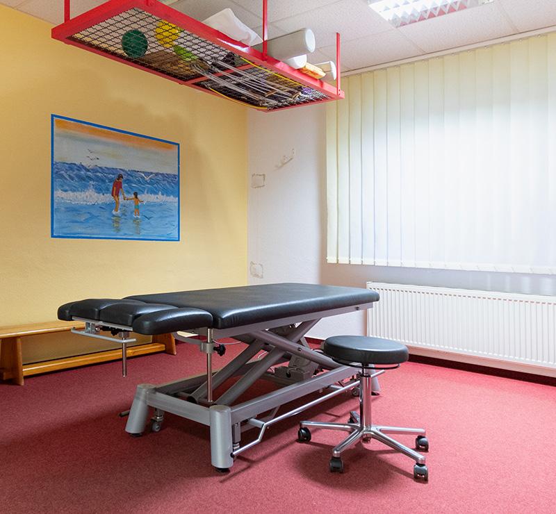 Behandlungsraum - Praxis Allery für Logopädie und Physiotherapie in Hamm.
