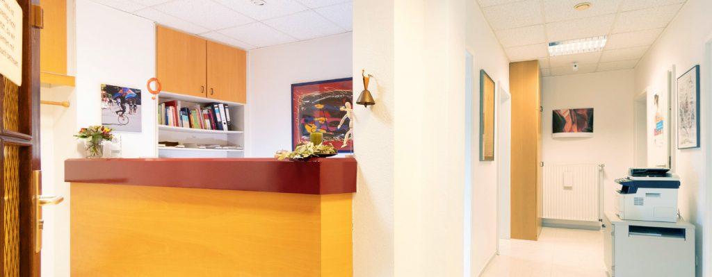Eingangsbereich - Praxis Allery für Logopädie und Physiotherapie in Hamm.